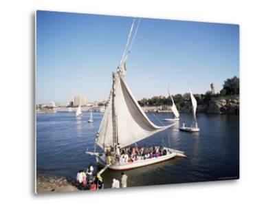 Feluccas on the River Nile, Aswan, Egypt, North Africa, Africa-Philip Craven-Metal Print
