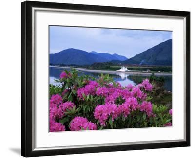 Corran Lighthouse and Loch Linnhe, Highland Region, Scotland, United Kingdom-Kathy Collins-Framed Photographic Print