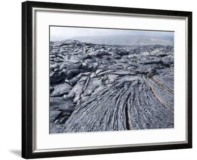 Cooled Lava from Recent Eruption, Kilauea Volcano, Hawaii Volcanoes National Park, Island of Hawaii-Ethel Davies-Framed Photographic Print