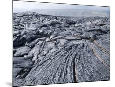 Cooled Lava from Recent Eruption, Kilauea Volcano, Hawaii Volcanoes National Park, Island of Hawaii-Ethel Davies-Mounted Photographic Print