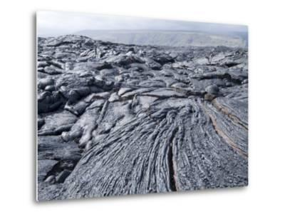 Cooled Lava from Recent Eruption, Kilauea Volcano, Hawaii Volcanoes National Park, Island of Hawaii-Ethel Davies-Metal Print