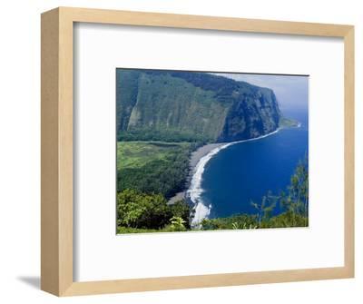 View of Waipio Valley, Island of Hawaii (Big Island), Hawaii, USA-Ethel Davies-Framed Photographic Print