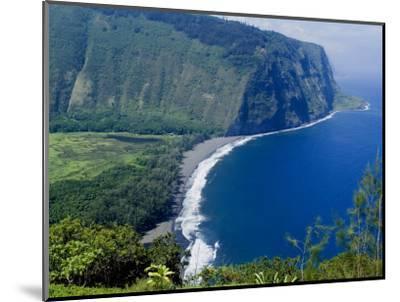 View of Waipio Valley, Island of Hawaii (Big Island), Hawaii, USA-Ethel Davies-Mounted Photographic Print