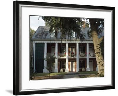 Shadows on the Teche Plantation House, New Iberia, Louisiana, USA-Ethel Davies-Framed Photographic Print
