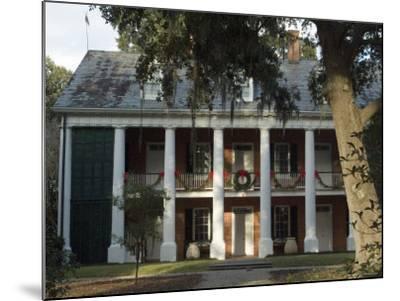 Shadows on the Teche Plantation House, New Iberia, Louisiana, USA-Ethel Davies-Mounted Photographic Print