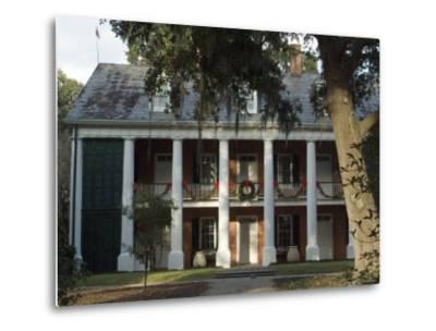 Shadows on the Teche Plantation House, New Iberia, Louisiana, USA-Ethel Davies-Metal Print