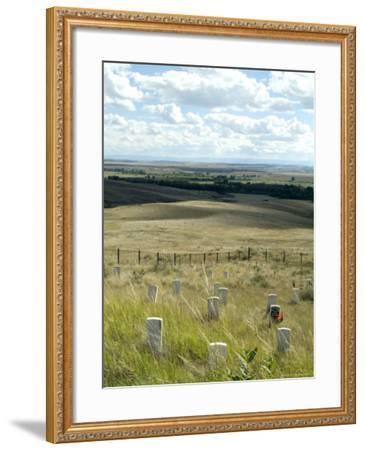 Site of Massacre, Including Where Custer Fell, Little Big Horn, Montana, USA-Ethel Davies-Framed Photographic Print