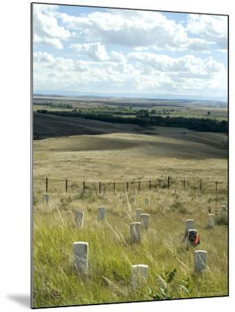 Site of Massacre, Including Where Custer Fell, Little Big Horn, Montana, USA-Ethel Davies-Mounted Photographic Print