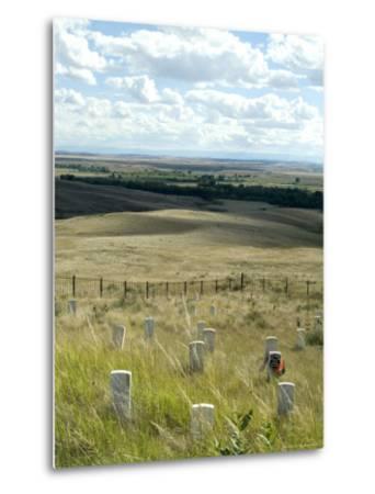Site of Massacre, Including Where Custer Fell, Little Big Horn, Montana, USA-Ethel Davies-Metal Print