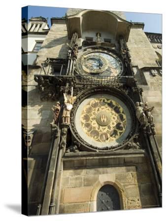Astronomical Clock, Stare Mesto, Prague, Unesco World Heritage Site, Czech Republic-Ethel Davies-Stretched Canvas Print