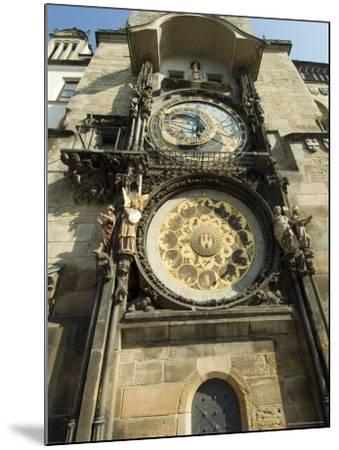 Astronomical Clock, Stare Mesto, Prague, Unesco World Heritage Site, Czech Republic-Ethel Davies-Mounted Photographic Print