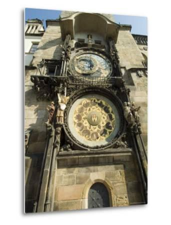 Astronomical Clock, Stare Mesto, Prague, Unesco World Heritage Site, Czech Republic-Ethel Davies-Metal Print