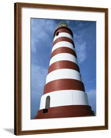 Lighthouse, Hopetown, Abaco, Bahamas, West Indies, Central America-Ethel Davies-Framed Photographic Print