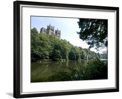 Cathedral Overlooking River Wear, Unesco World Heritage Site, Durham, County Durham, England-Ethel Davies-Framed Photographic Print