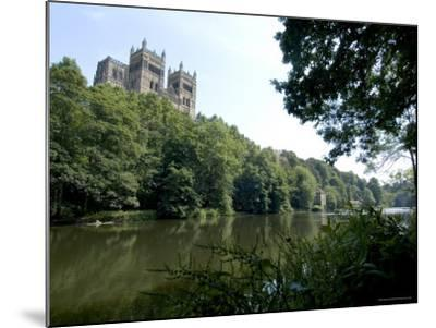 Cathedral Overlooking River Wear, Unesco World Heritage Site, Durham, County Durham, England-Ethel Davies-Mounted Photographic Print