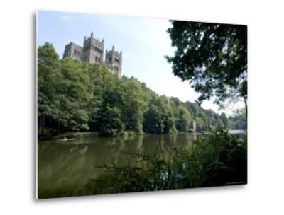 Cathedral Overlooking River Wear, Unesco World Heritage Site, Durham, County Durham, England-Ethel Davies-Metal Print