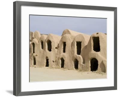 Berber Grain Storage Units, Now a Hotel, Ksar Halouf, Tunisia, North Africa, Africa-Ethel Davies-Framed Photographic Print