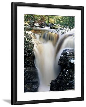 Waterfalls on Dundonnell River, Wester Ross, Highland Region, Scotland, United Kingdom-Neale Clarke-Framed Photographic Print