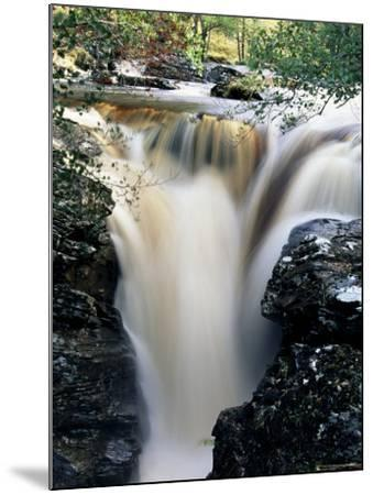 Waterfalls on Dundonnell River, Wester Ross, Highland Region, Scotland, United Kingdom-Neale Clarke-Mounted Photographic Print