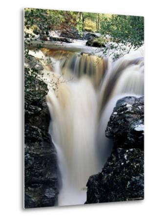 Waterfalls on Dundonnell River, Wester Ross, Highland Region, Scotland, United Kingdom-Neale Clarke-Metal Print