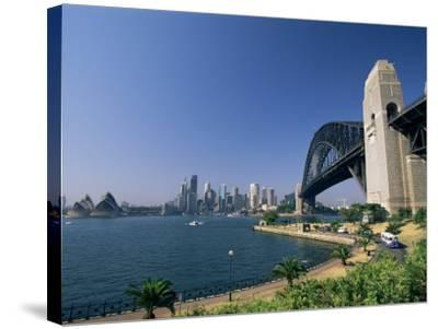 Sydney Harbour Bridge and Skyline, Sydney, New South Wales, Australia-Neale Clarke-Stretched Canvas Print
