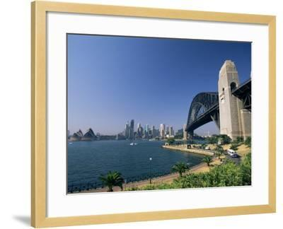 Sydney Harbour Bridge and Skyline, Sydney, New South Wales, Australia-Neale Clarke-Framed Photographic Print