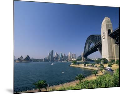 Sydney Harbour Bridge and Skyline, Sydney, New South Wales, Australia-Neale Clarke-Mounted Photographic Print