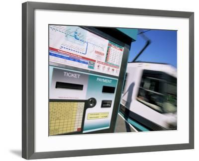 City Trams, Piccadilly Gardens, Manchester, England, United Kingdom-Neale Clarke-Framed Photographic Print