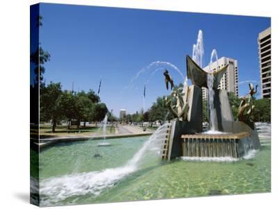 Queen Victoria Fountain, Victoria Square, Adelaide, South Australia, Australia-Neale Clarke-Stretched Canvas Print