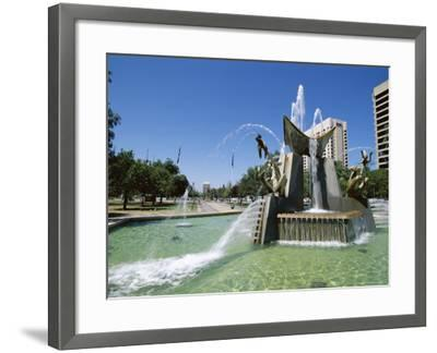 Queen Victoria Fountain, Victoria Square, Adelaide, South Australia, Australia-Neale Clarke-Framed Photographic Print