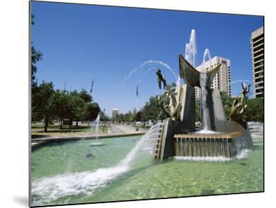 Queen Victoria Fountain, Victoria Square, Adelaide, South Australia, Australia-Neale Clarke-Mounted Photographic Print