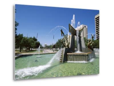 Queen Victoria Fountain, Victoria Square, Adelaide, South Australia, Australia-Neale Clarke-Metal Print