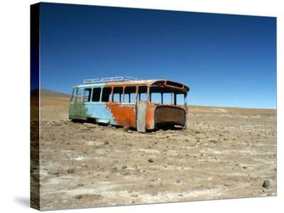 Bus Wreck, Near Chilean Border, Salar De Uyuni, Bolivia, South America-Mark Chivers-Stretched Canvas Print