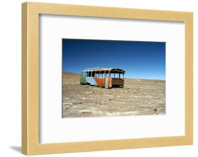 Bus Wreck, Near Chilean Border, Salar De Uyuni, Bolivia, South America-Mark Chivers-Framed Photographic Print