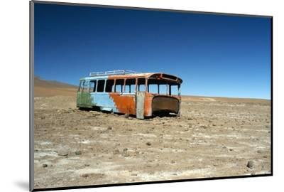 Bus Wreck, Near Chilean Border, Salar De Uyuni, Bolivia, South America-Mark Chivers-Mounted Photographic Print