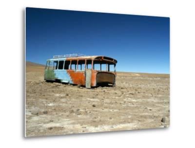 Bus Wreck, Near Chilean Border, Salar De Uyuni, Bolivia, South America-Mark Chivers-Metal Print