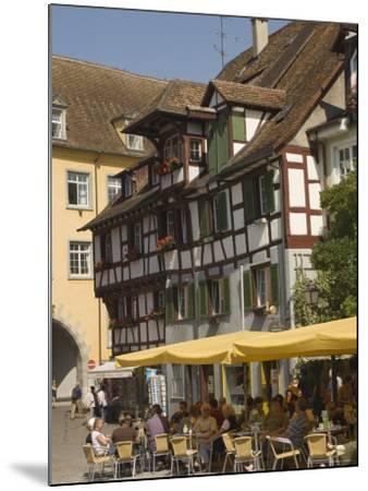 Pavement Cafe in Main Square, Meersberg, Lake Constance, Germany-James Emmerson-Mounted Photographic Print