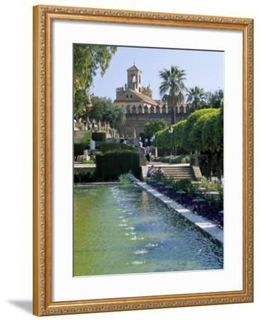 Fountains in Gardens, Cordoba, Andalucia (Andalusia), Spain-James Emmerson-Framed Photographic Print