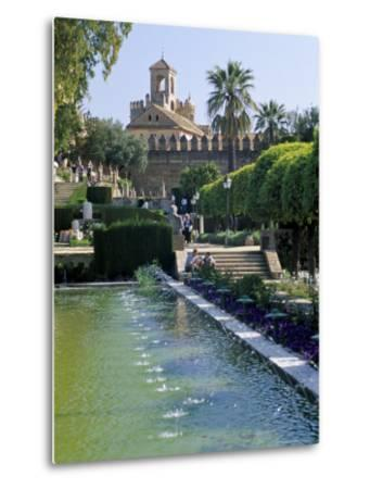 Fountains in Gardens, Cordoba, Andalucia (Andalusia), Spain-James Emmerson-Metal Print