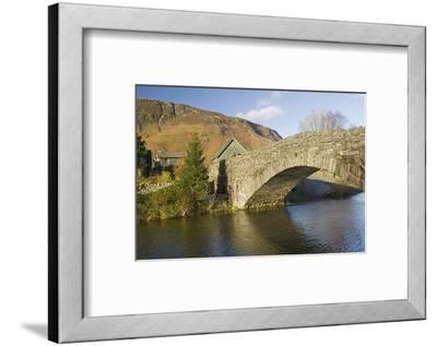 Grange Bridge and Village, Borrowdale, Lake District National Park, Cumbria, England-James Emmerson-Framed Photographic Print