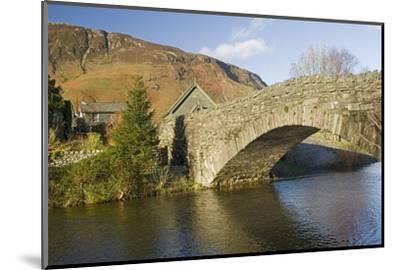 Grange Bridge and Village, Borrowdale, Lake District National Park, Cumbria, England-James Emmerson-Mounted Photographic Print