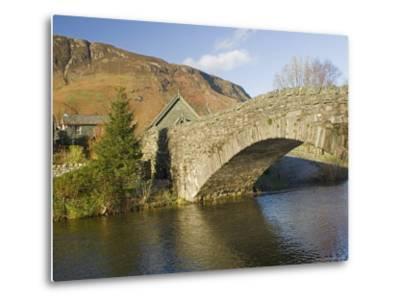 Grange Bridge and Village, Borrowdale, Lake District National Park, Cumbria, England-James Emmerson-Metal Print