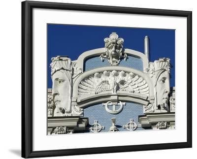 Art Nouveau Architecture, 10B Elizabetes Iela, Designed by Mikhail Eisenstein, Riga, Latvia-Gary Cook-Framed Photographic Print