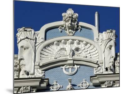 Art Nouveau Architecture, 10B Elizabetes Iela, Designed by Mikhail Eisenstein, Riga, Latvia-Gary Cook-Mounted Photographic Print
