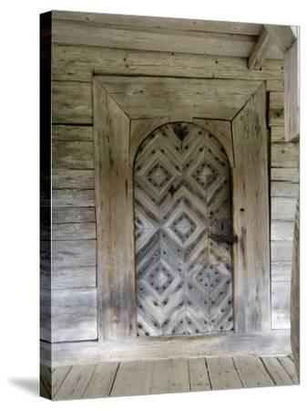Door Detail, Latvian Open Air Ethnographic Museum, Latvia-Gary Cook-Stretched Canvas Print