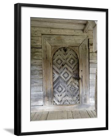 Door Detail, Latvian Open Air Ethnographic Museum, Latvia-Gary Cook-Framed Photographic Print