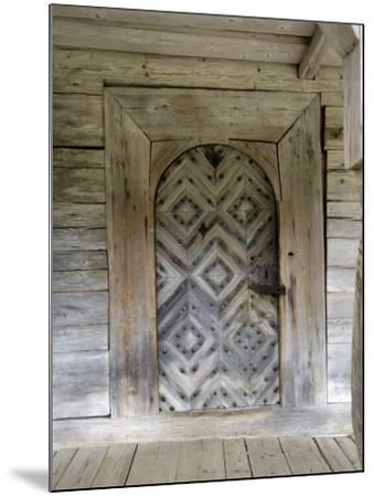 Door Detail, Latvian Open Air Ethnographic Museum, Latvia-Gary Cook-Mounted Photographic Print