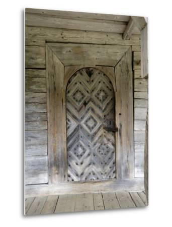Door Detail, Latvian Open Air Ethnographic Museum, Latvia-Gary Cook-Metal Print