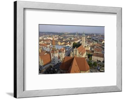 View of the City from the Tower of Peterskirche, Munich, Bavaria, Germany-Gary Cook-Framed Photographic Print
