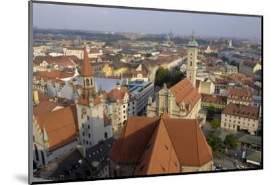 View of the City from the Tower of Peterskirche, Munich, Bavaria, Germany-Gary Cook-Mounted Photographic Print